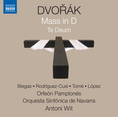 Album artwork for Dvorak: Mass in D Major, Op. 86, B. 153 & Te Deum