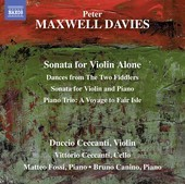 Album artwork for Maxwell Davies: Works for Violin