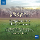 Album artwork for Pizzetti: Symphony in A Major & Harp Concerto in E