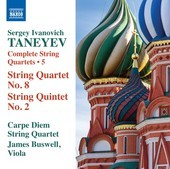 Album artwork for Taneyev: Complete String Quartets, Vol. 5