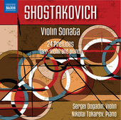 Album artwork for Shostakovich: Violin Sonata in G Major & 24 Prelud