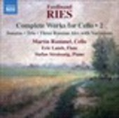 Album artwork for Ries: Complete Works for Cello, Vol. 2