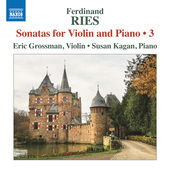 Album artwork for Ries: Sonatas for Violin & Piano, Vol. 3