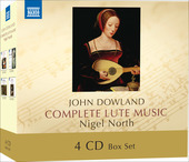 Album artwork for John Dowland: Complete Lute Music / Nigel North
