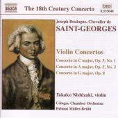 Album artwork for Saint-Georges (Bologne) : VIOLIN CONCERTOS