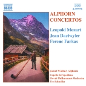 Album artwork for L. Mozart, Daetwyler, Farkas: Alphorn Concertos /