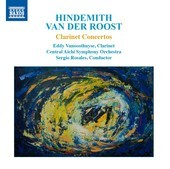 Album artwork for Hindemith & Van der Roost: Clarinet Concertos