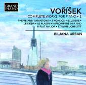 Album artwork for Jan Hugo Vorisek: Complete Piano Works, Vol. 2