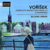 Album artwork for Voríšek: Complete Works for Piano, Vol. 3