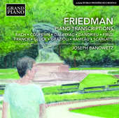 Album artwork for Friedman.: Piano Transcriptions