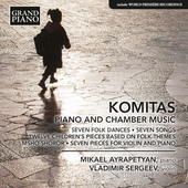 Album artwork for Komitas: Piano & Chamber Music