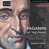 Album artwork for Paganini at the Piano