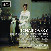 Album artwork for Tchaikovsky: Opera and Song Transcriptions for Pia