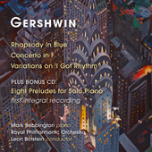 Album artwork for Gershwin: Rhapsody in Blue, Piano Concerto, Variat