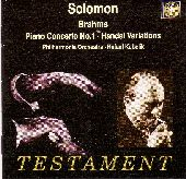 Album artwork for SOLOMON PLAYS BRAHMS