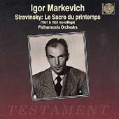 Album artwork for Igor Markevich - LE SACRRE DU PRINTEMPS 1951 & 195