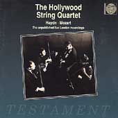 Album artwork for The Hollywood String Quartet:  Unpublished Live Re