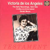Album artwork for Victoria de Los Angeles EARLY RECORDINGS, 1942-195