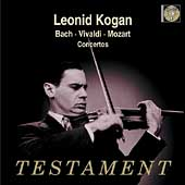 Album artwork for Bach, Vivaldi, Mozart: Violin Concertos / Kogan
