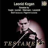 Album artwork for SONATAS BY YSAYE, LECLAIR, TELEMANN, LOCATELLI