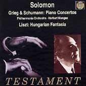 Album artwork for SOLOMON PLAYS GREIG & SCHUMANN