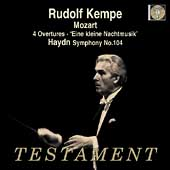 Album artwork for RUDOLF KEMPE CONDUCTS MOZART: 4 OVERTURES
