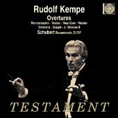 Album artwork for KEMPE CONDUCTS OVERTURES