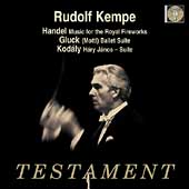 Album artwork for KEMPE CONDUCTS HANDEL / GLUCK / KODALY