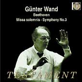 Album artwork for GUNTER WAND CONDUCTS: MISSA SOLEMNIS & SYMPHONY NO