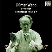 Album artwork for GUNTER WAND CONDUCTS SYMPHONIES NOS. 1 & 7