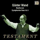 Album artwork for GUNTER WAND CONDUCTS: SYMPHONIES NOS. 4 & 5