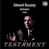Album artwork for GERARD SOUZAY SINGS SCHUBERT LIEDER