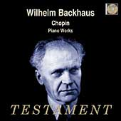 Album artwork for WILHELM BACKHAUS PLAYS CHOPIN