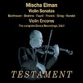 Album artwork for MISCHA ELMAN: COMPLETE DECCA RECORDINGS, VOLUME 2