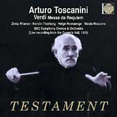 Album artwork for Arturo Toscanini Conducts Verdi: Messa da Requiem*
