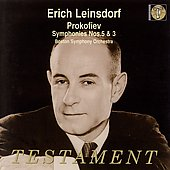 Album artwork for ERICH LEINSDORF CONDUCTS PROKOFIEV