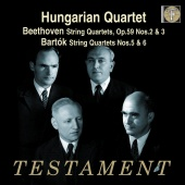 Album artwork for Hungarian Quartet plays Beethoven & Bartók
