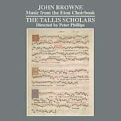 Album artwork for Browne: Music from the Eton Choirbook