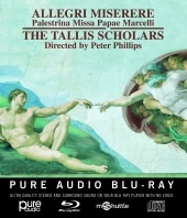 Album artwork for Allegri: Miserere. Tallis Scholars/Phillips (Blu-r