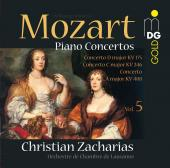 Album artwork for Mozart Piano Concertos - Zacharias