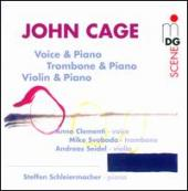 Album artwork for Cage: Voice & Piano/Trombone & Piano/Violin & Pian