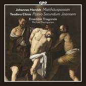 Album artwork for Herold: Matthäuspassion - Clinio: Passio secundum
