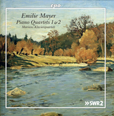 Album artwork for Emilie Mayer: Piano Quartets 1 & 2