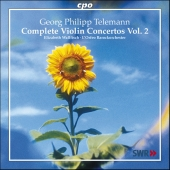 Album artwork for Telemann: Complete Violin Concertos vol. 2