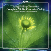 Album artwork for Telemann: Complete Violin Concertos, Vol. 6