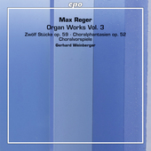 Album artwork for Reger: Organ Works, Vol. 3