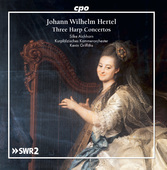 Album artwork for Hertel:  Three Harp Concertos