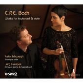 Album artwork for CPE Bach: Works for Keyboard & Violin / Schayegh,