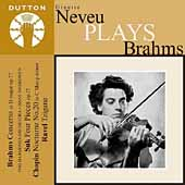 Album artwork for GINETTE NEVEU PLAYS BRAHMS