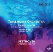 Album artwork for Beethoven Symphonies 7 & 8 / Tafelmusik, Weil